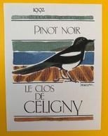 10649  - Pinot Noir 1992 Le Clos De Céligny  Suisse - Etiquettes