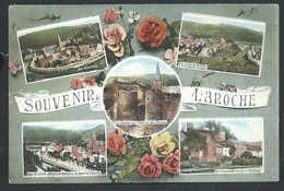 +++ CPA - Carte Fantaisie - Fleur Rose - Souvenir De LAROCHE - Multivues  // - La-Roche-en-Ardenne