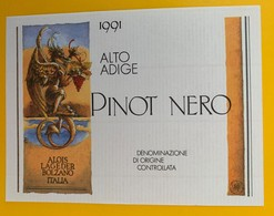 10651  - Pinot Nero Alto Adige Alois Lageder Bolzano - Etiquettes