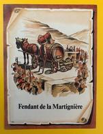 10652  - Fendant De La Martignière Suisse - Etiquettes