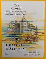 10654  - Château D'Allaman 1992 Suisse - Etiquettes