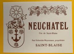 10656 - Neuchâtel Cru De Saint-Blaise Suisse - Etiquettes