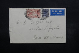 INDE - Enveloppe De Bombay Pour Paris En 1934 , Affranchissement Plaisant - L 32557 - India (...-1947)
