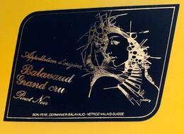 10657 - Balavaud Grand Cru Pinot Noir Suisse - Etiquettes