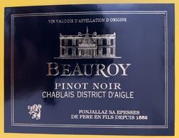 10659 - Beauroy Pinot Noir D'AIgle Suisse - Etiquettes