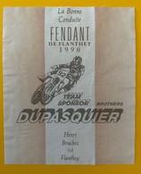 10660 - Moto Fendant 1990 TeamSponsor Brothers Dupasquier Suisse - Etiquettes