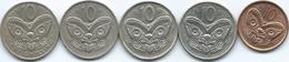 New Zealand - Elizabeth II - 10 Cents - 1969 (KM35) 1973 (KM41) 1988 (KM61) 2000 (KM117) & 2011 (KM117a) - Nouvelle-Zélande