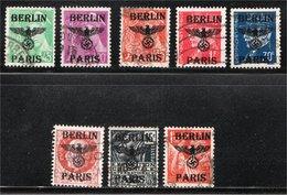Surcharge Berlin Paris Sur Timbres De France - Faux (Forgery) - Francia