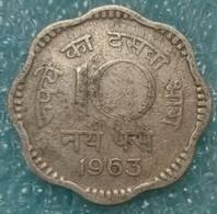 India 10 Naye Paise, 1963 W/o Mintmark - Calcutta -0665 - Inde