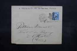 FRANCE - Enveloppe Commerciale De Paris Pour L 'Eure En 1874 , Affranchissement Cérès Avec Oblitération étoile - L 32564 - Poststempel (Briefe)