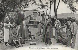 CARTE POSTALE ORIGINALE ANCIENNE : MISSIONS D'AFRIQUE DU SUD CHEZ LE DENTISTE ANIMEE - Missions