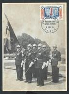 +++ CPA - Régiment De SAPEURS POMPIERS De PARIS - Le Drapeau Et Sa Garde - Cachet Premier Jour 1964 - Uniforme  // - Sapeurs-Pompiers