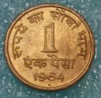 """India 1 Paisa, 1964 Mintmark """"♦"""" - Bombay -0417 - Inde"""