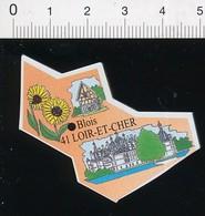 Magnet Le Gaulois Carte Géographique Département Loir-et-Cher Château De Chambord Fleur Tournesol Agriculture 01-mag3 - Magnets