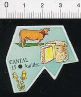 Magnet Le Gaulois Carte Géographique Département Cantal Fromage Vache Gentiane Agriculture 01-mag3 - Magnets