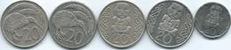 New Zealand - Elizabeth II - 20 Cents - 1974 (KM36) 1987 (KM62) 1990 (KM81) 2002 (KM118) & 2008 (KM118a) - New Zealand
