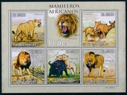 NB - [401726]TB//**/Mnh-Sao Tomé-et-Principe 2009 - Mammifères Africain, Lions - Roofkatten