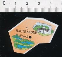 Magnet Le Gaulois Carte Géographique Département Haute-Saône Chapelle Notre-Dame-du-Haut (Le Corbusier) 01-mag3 - Magnets
