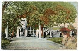 BRADFORD EXHIBITION 1904 : THE MASHAM CHALET RESTAURANT / POSTMARK - KEIGHLEY / ADDRESS - DUBLIN, NORTH STRAND - Bradford