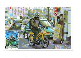 CARTE MAXIMUM 2002 SIECLE AU FIL DU TIMBRE LA MOBYLETTE - 2000-09
