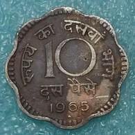 """India 10 Paise, 1965 Mintmark """"♦"""" - Bombay -1761 - Inde"""