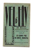 Vel D'Hiv. Programme 1936. 22 Eme Reunion. Complet. Pub Etc.... - Programs