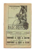 Parc Des Princes. Programme 1934. 2eme Reunion. Complet. Pub Etc.... - Programs