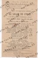 Publicité Le Salon Du Cycle, Nouvion En Thiérache, Vers 1930 (bicyclettes, Machines à Coudres, Phonographes, TSF) - 1900 – 1949