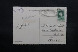 VATICAN - Affranchissement Plaisant Sur Carte Postale En 1937 Pour Paris - L 32568 - Lettres & Documents