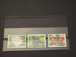 HONDURAS - P.A. 1991 FARFALLE 3  VALORI - NUOVI(++) - Honduras