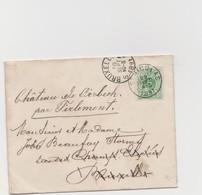Tienen, Thienen, Tirlemont, Kasteel Oorbeek,enveloppe Voor Dhr En Mevrouw John Beaufoy Storms, 1891 - Unclassified