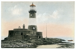 LONGSTONE LIGHTHOUSE : ENGLAND, FARNE ISLANDS - Lighthouses
