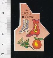 Magnet Le Gaulois Carte Géographique Département Drome Chaussures Bottines Arboriculture Fruits ?? Abricots ?? 01-mag3 - Magnets