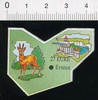 Magnet Le Gaulois Carte Géographique Département Eure Animal Chevreuil Château-Gaillard 01-mag3 - Magnets