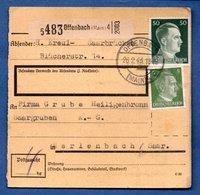 Colis Postal  -  De Offenbach - 26-2-43 - Deutschland