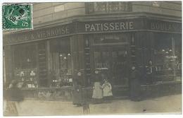 CARTE PHOTO Paris Batignolles BOULANGERIE PATISSERIE AU SOLEIL D'OR GOISET 32 Rue Jouffroy Angle Rue Tocqueville 1908 - District 17