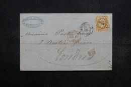 FRANCE - Lettre De Marseille Pour Londres En 1860 , Affranchissement Napoléon 40cts - L 32575 - 1849-1876: Période Classique