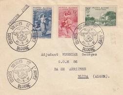 ALGERIE  - LETTRE CACHET OEUVRES SOCIALES DE L'ARMEE ALGER 30.11.57 POUR BLIDA   /1 - Brieven En Documenten