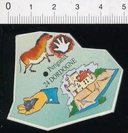 Magnet Le Gaulois Carte Géographique Département Dordogne Grotte De Lascaux Truffes Du Périgord 01-mag3 - Magnets