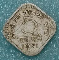 India 5 Paise, 1971 W/o Mintmark - Calcutta -1267 - Inde