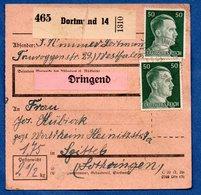 Colis Postal  -  De Dortmund - Pour Spittel    -  Déchirure - Allemagne