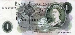 Billet De Grande-Bretagne De 1 Pound N D (1960-77) En T T B +- C Z 49 285904 - - 1952-… : Elizabeth II
