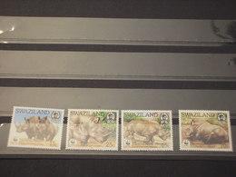 SWAZILAND - 1987 WWF RINOCERONTI 4 VALORI - NUOVI(++) - Swaziland (1968-...)