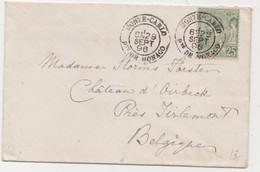 Tienen, Thienen, Tirlemont, Kasteel Oorbeek,enveloppe Monte Carlo, Monaco  Voor John Beaufoy Storms, 1896 - Unclassified