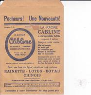 PIE.DOCS-DH.GF19-210 : POCHETTE PAPIER PUBLICITE  ETS MAUDUIT GUILLON AMBOISE. PECHE A LA LIGNE. CABLINE - Francia