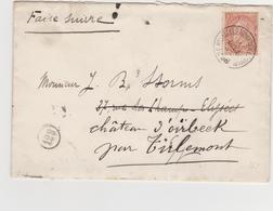 Tienen, Thienen, Tirlemont, Kasteel Oorbeek,enveloppe Brussel  Voor John Beaufoy Storms, 1896 - Unclassified