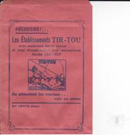 PIE.DOCS-DH.GF19-211 : POCHETTE PAPIER PUBLICITE  ETS MAUDUIT GUILLON AMBOISE. PECHE A LA LIGNE. TIR-TOU - Francia