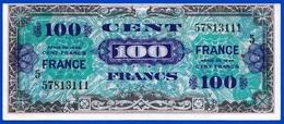 100 FRANCS VERSO FRANCE 4 JUIN 1945 N° 57813111 LES BILLETS DU TRÉSOR VENDU EN L'ETAT IMPRESSION AMÉRICAINE - Serbon63 - Treasury