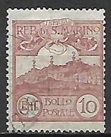 SAN  MARINO    -    1903 .   Y&T N° 36 Oblitéré - Saint-Marin
