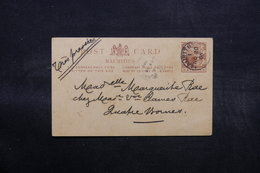 MAURICE - Entier Postal De Port Louis Pour Quatre Bornes En 1906 - L 32587 - Mauricio (...-1967)